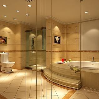 卫生间设计整体模型