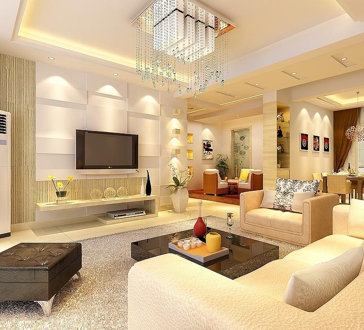 客厅背景墙模型