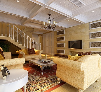 欧式别墅客厅