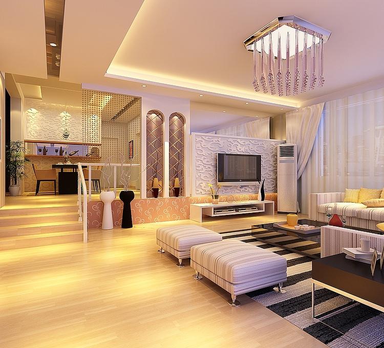 下沉式客厅模型
