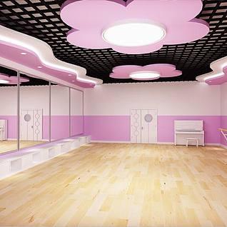 舞蹈教室整体模型
