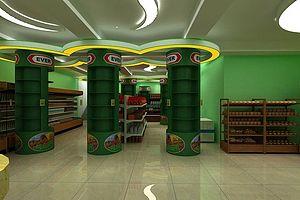 超市3d模型