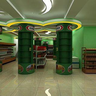 超市整体模型