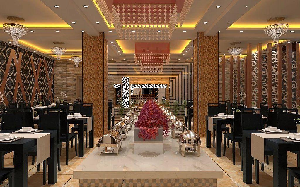 时尚餐厅模型