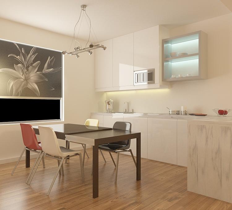 厨房餐厅模型