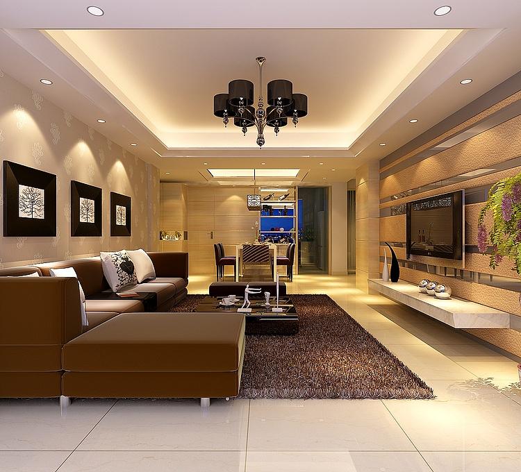 客厅背景墙设计模型
