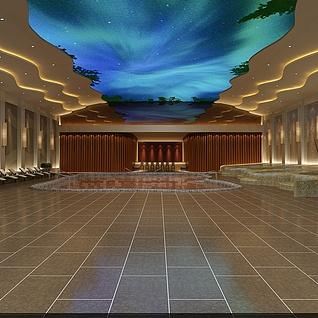 洗浴中心整体模型