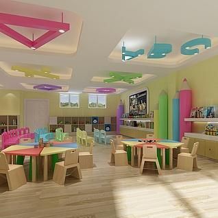 幼儿园整体模型