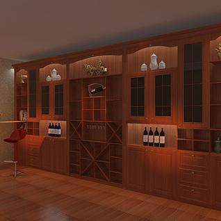 酒柜整体模型