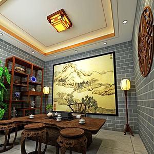 中式茶室模型3d模型