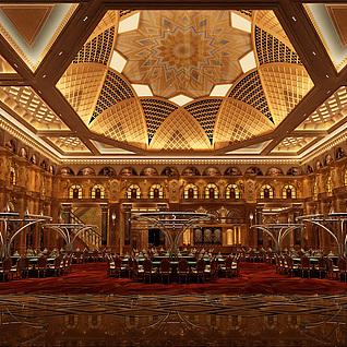 奢华宴会厅整体模型