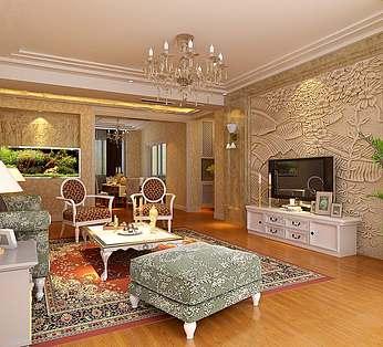 中欧风格客厅