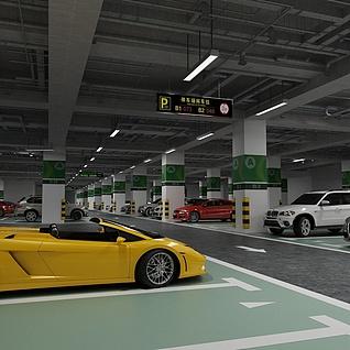 停车场整体模型