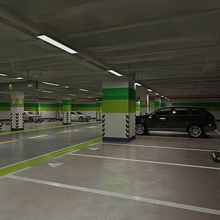 地下停车场整体模型