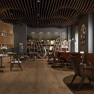 书店咖啡整体模型