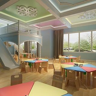 欧式幼儿园整体模型