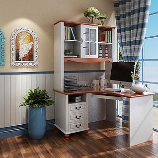 地中海书桌3d模型