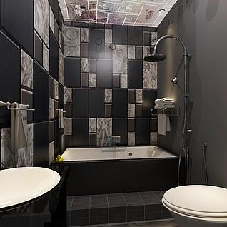 现代卫浴整体模型