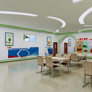 校园心理空间大厅整体模型