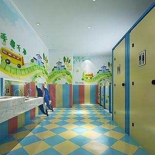 幼儿卫生间整体模型
