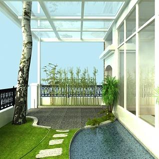 庭院花园整体模型