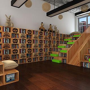 校园图书室整体模型