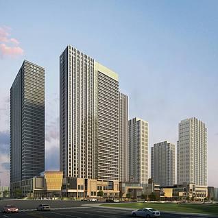 商业酒店项目整体模型