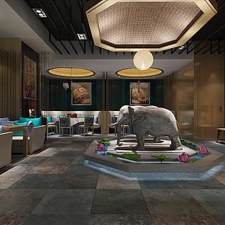 泰式餐厅整体模型