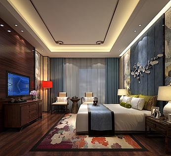 新中式卧室