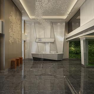 售楼大厅整体模型