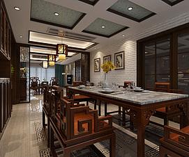 新中式家装整体整体模型
