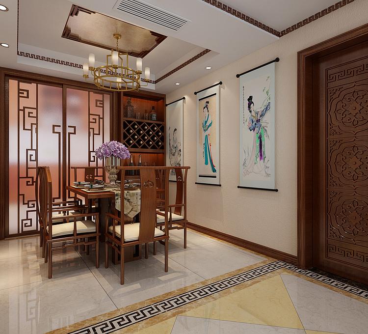 中式客餐厅模型