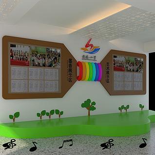 文学展厅整体模型