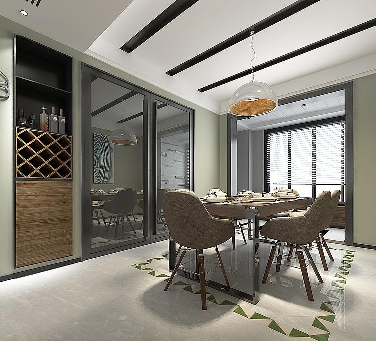 客厅餐厅模型