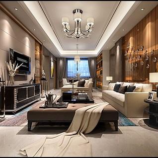 客厅整体模型