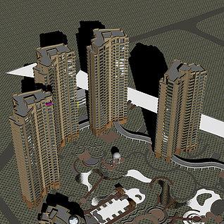 高层住宅整体模型