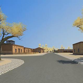 新疆民居整体模型