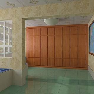 现代新农村室内装修整体模型