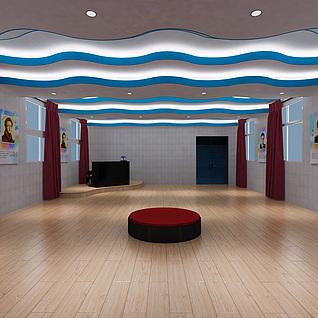 歌咏厅排练室整体模型