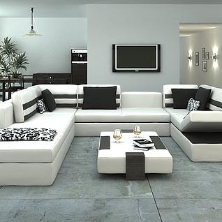 客厅沙发整体模型
