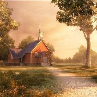 森林小屋整体模型