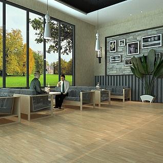现代咖啡厅3d模型