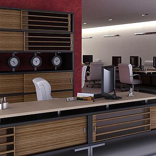 公司办公室整体整体模型
