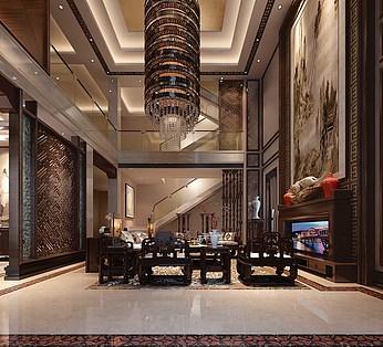 中式风格客厅餐厅