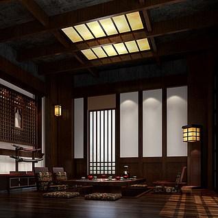 日式风格茶室整体模型
