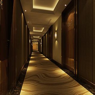 标准层走廊整体模型