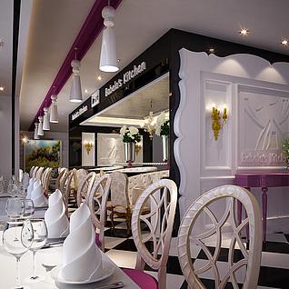 巴贝拉西餐厅整体模型