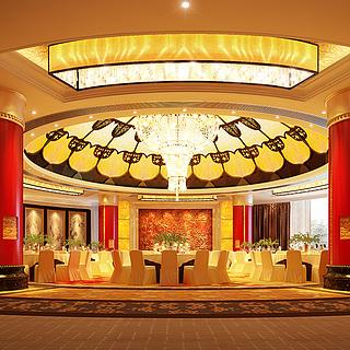 中国<font class='myIsRed'>饭店</font>宴会厅整体模型