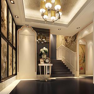 楼梯过道整体模型