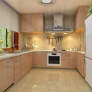 厨房装修整体模型